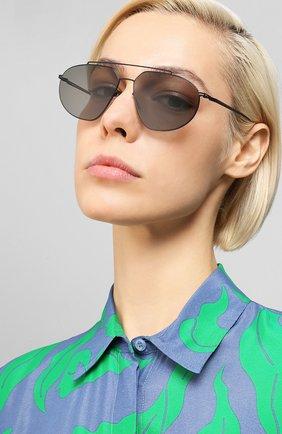 Мужские солнцезащитные очки MAISON MARGIELA черного цвета, арт. MMESSE 022/E4-BLACK | Фото 2