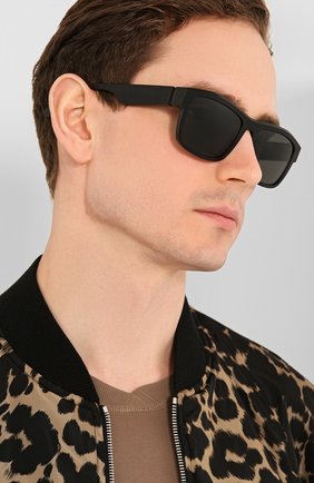 Мужские солнцезащитные очки MAISON MARGIELA черного цвета, арт. MMRAW 017/RAW BLACK   Фото 2