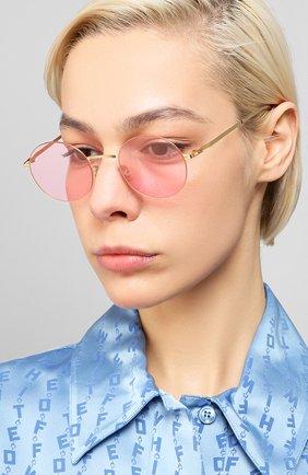 Мужские солнцезащитные очки MYKITA розового цвета, арт. KAY0/GL0SSYG0LD | Фото 2