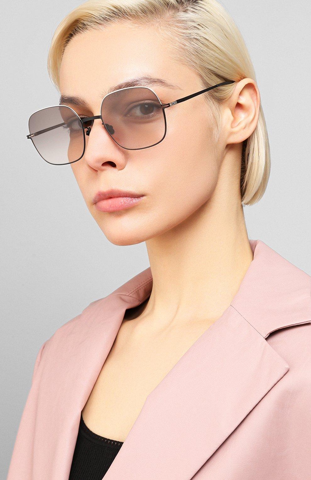 Женские солнцезащитные очки MYKITA серого цвета, арт. MAGDA/SILVER/BLACK   Фото 2