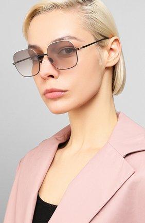 Женские солнцезащитные очки MYKITA серого цвета, арт. MAGDA/SILVER/BLACK | Фото 2 (Тип очков: С/з; Очки форма: Квадратные; Оптика Гендер: оптика-женское)