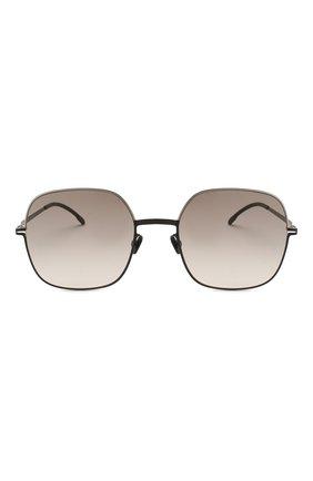 Женские солнцезащитные очки MYKITA серого цвета, арт. MAGDA/SILVER/BLACK   Фото 3