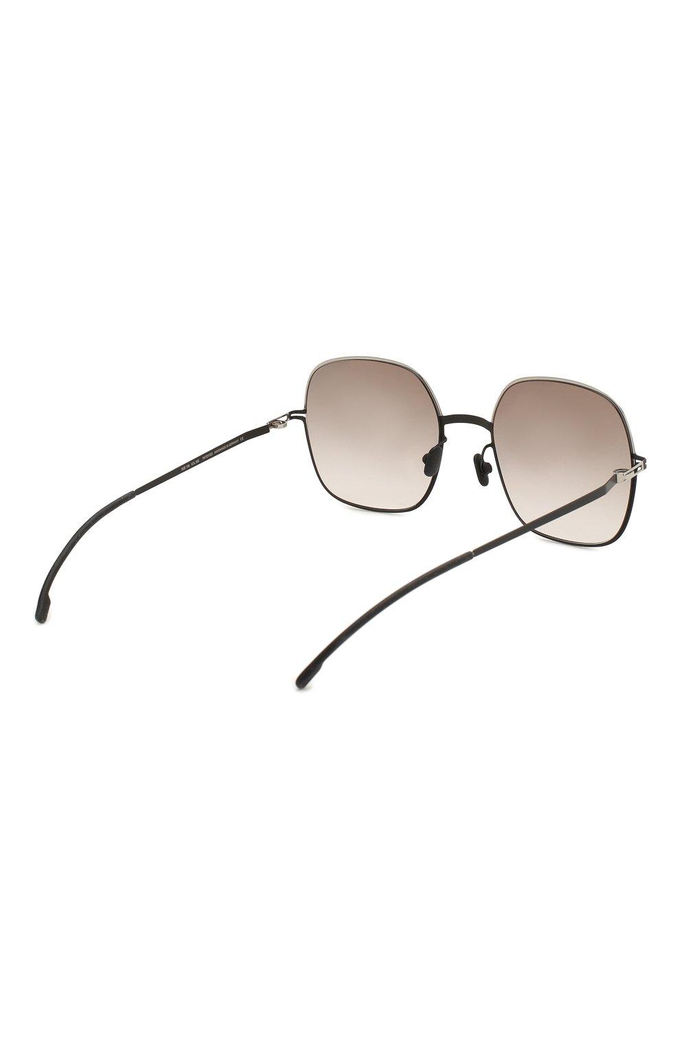 Женские солнцезащитные очки MYKITA серого цвета, арт. MAGDA/SILVER/BLACK   Фото 4