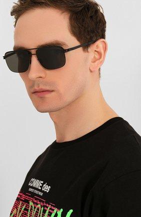 Мужские солнцезащитные очки MYKITA черного цвета, арт. WILDER/BLACK | Фото 2