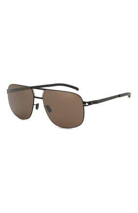 Мужские солнцезащитные очки MYKITA черного цвета, арт. AL/BLACK/SILVER | Фото 1 (Тип очков: С/з; Очки форма: Прямоугольные; Оптика Гендер: оптика-мужское)
