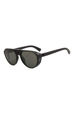 Мужские солнцезащитные очки MYKITA MYLON черного цвета, арт. PEAK/PITCH BLACK/DARKGREY S0LID | Фото 1