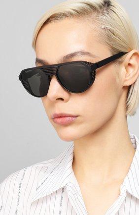 Мужские солнцезащитные очки MYKITA MYLON черного цвета, арт. PEAK/PITCH BLACK/DARKGREY S0LID | Фото 2