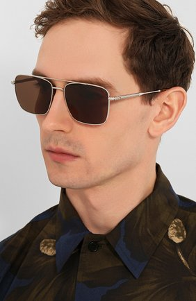 Мужские солнцезащитные очки FRED коричневого цвета, арт. FG40019U 16E | Фото 2