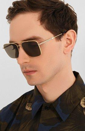 Мужские солнцезащитные очки FRED золотого цвета, арт. FG40019U 30D | Фото 2