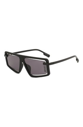 Мужские солнцезащитные очки KENZO черного цвета, арт. KZ40043U 02A | Фото 1