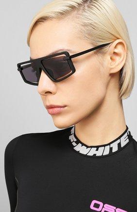 Мужские солнцезащитные очки KENZO черного цвета, арт. KZ40043U 02A | Фото 2