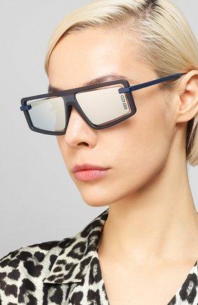 Мужские солнцезащитные очки KENZO синего цвета, арт. KZ40043U 91X | Фото 2