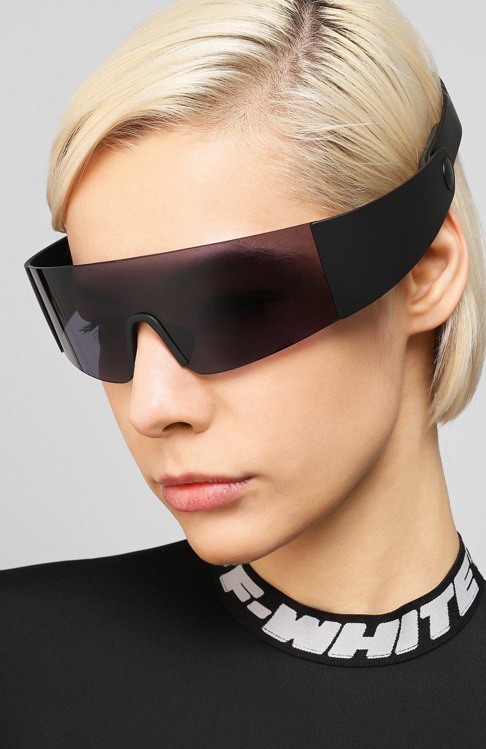 Женские солнцезащитные очки KENZO черного цвета, арт. KZ40064I 01A | Фото 2