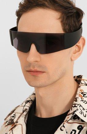 Женские солнцезащитные очки KENZO черного цвета, арт. KZ40064I 01A | Фото 3