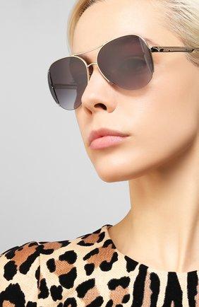 Мужские солнцезащитные очки BVLGARI серого цвета, арт. 6142-20338G | Фото 2