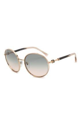 Мужские солнцезащитные очки BVLGARI золотого цвета, арт. 6135-20142C | Фото 1