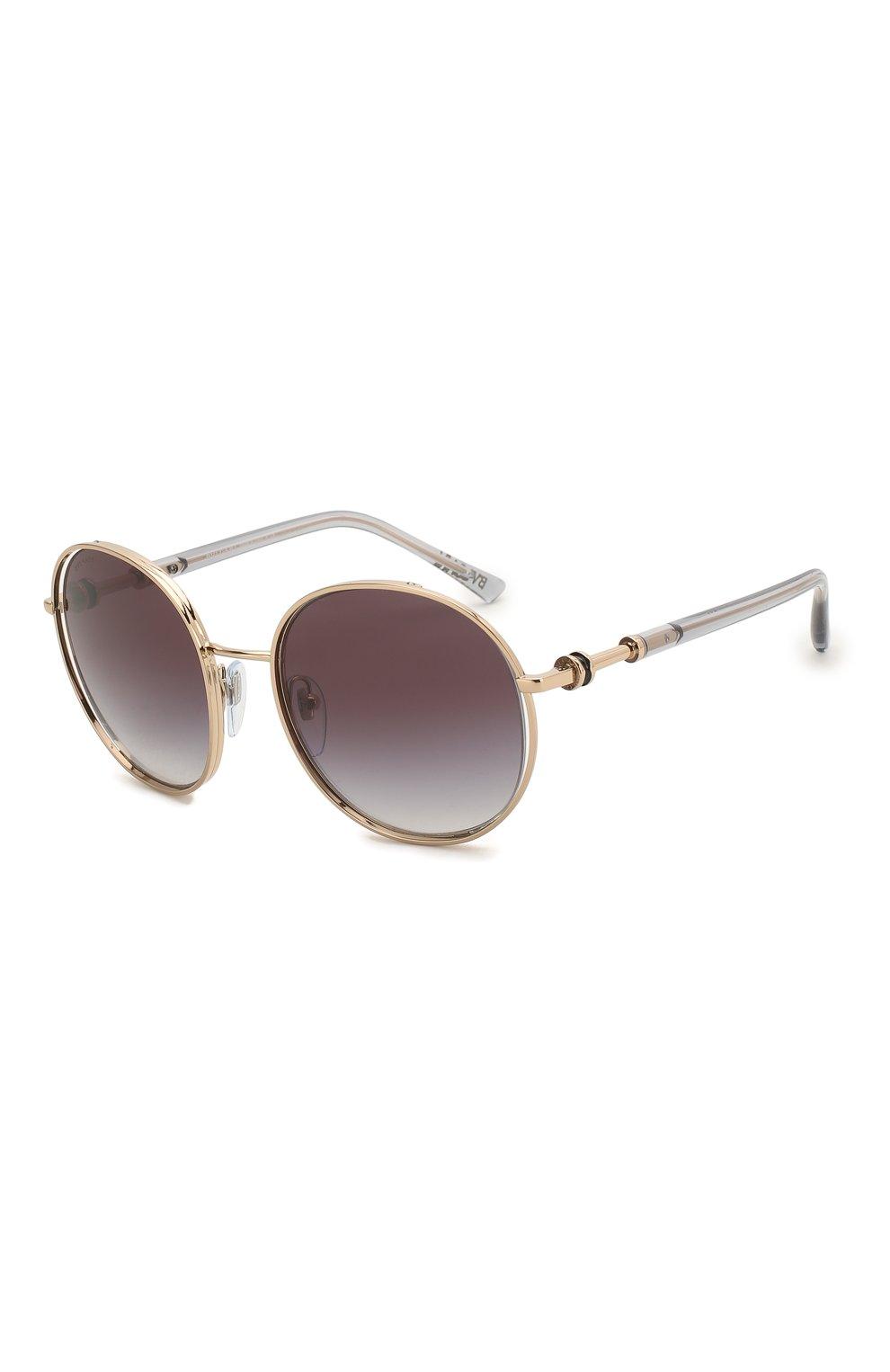 Женские солнцезащитные очки BVLGARI серого цвета, арт. 6135-20148G | Фото 1