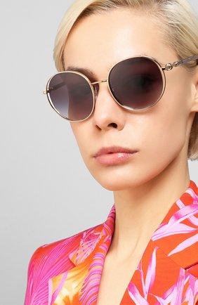 Женские солнцезащитные очки BVLGARI серого цвета, арт. 6135-20148G | Фото 2