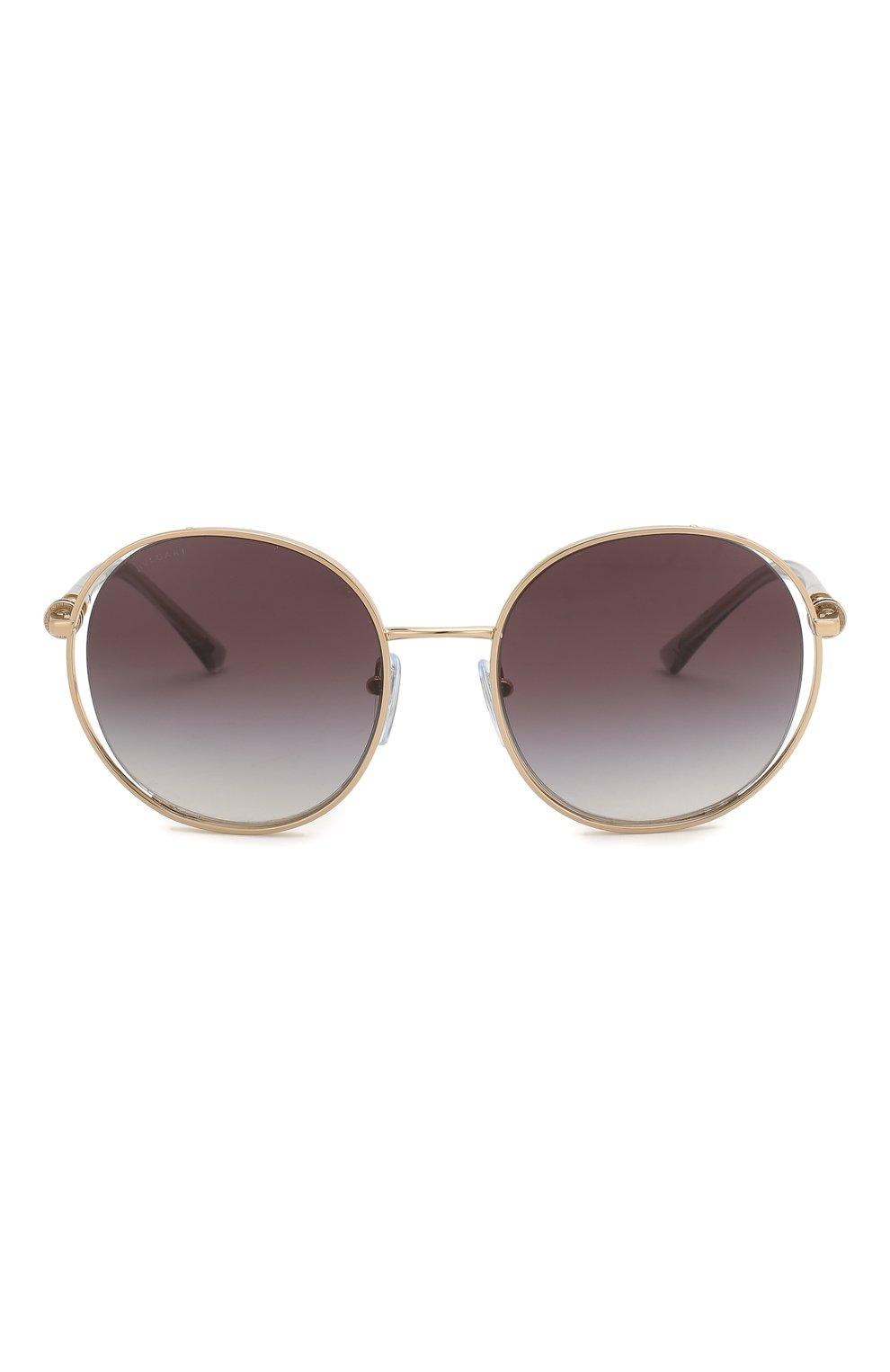 Женские солнцезащитные очки BVLGARI серого цвета, арт. 6135-20148G | Фото 3