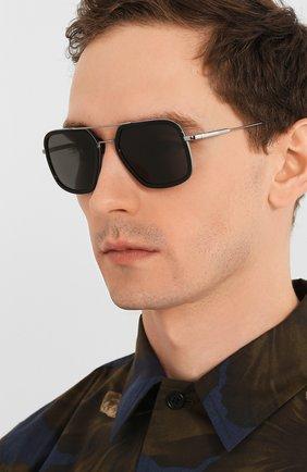 Мужские солнцезащитные очки PRADA черного цвета, арт. 57XS-M4Y5S0 | Фото 2