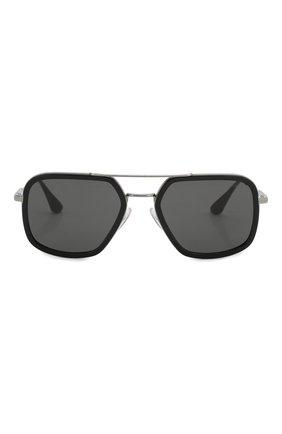 Мужские солнцезащитные очки PRADA черного цвета, арт. 57XS-M4Y5S0 | Фото 3
