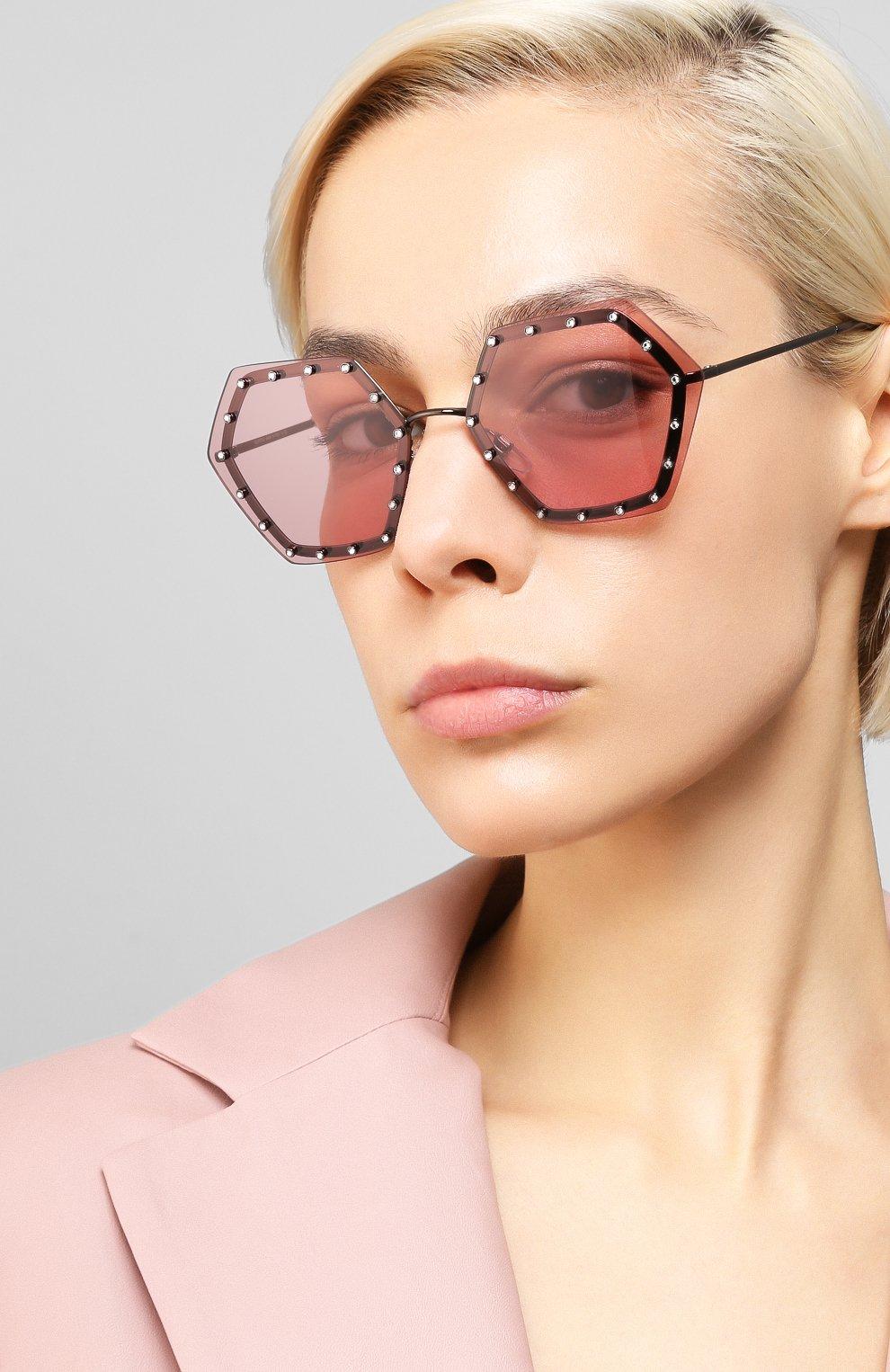 Женские солнцезащитные очки VALENTINO розового цвета, арт. 2035-303984 | Фото 2