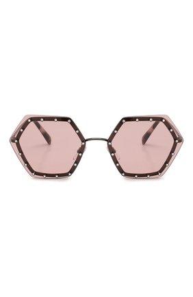 Женские солнцезащитные очки VALENTINO розового цвета, арт. 2035-303984 | Фото 3