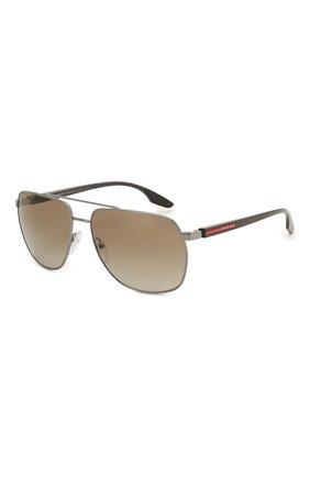 Женские солнцезащитные очки PRADA LINEA ROSSA коричневого цвета, арт. 55VS-5AV1X1   Фото 1