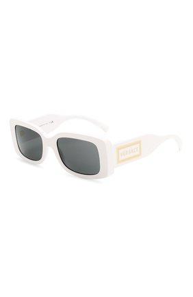 Женские солнцезащитные очки VERSACE белого цвета, арт. 4377-401/87 | Фото 1