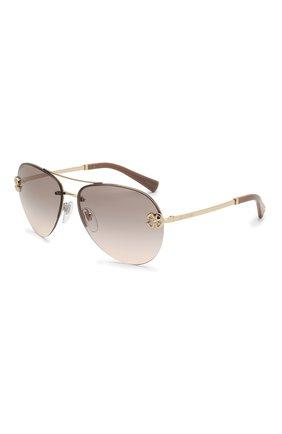 Женские солнцезащитные очки BVLGARI светло-коричневого цвета, арт. 6137B-278/3B | Фото 1