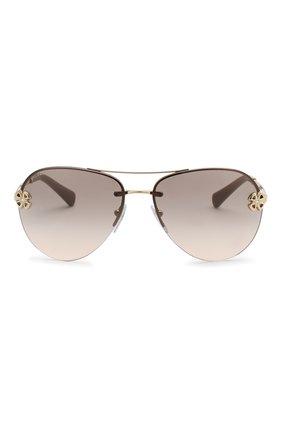Женские солнцезащитные очки BVLGARI светло-коричневого цвета, арт. 6137B-278/3B | Фото 3