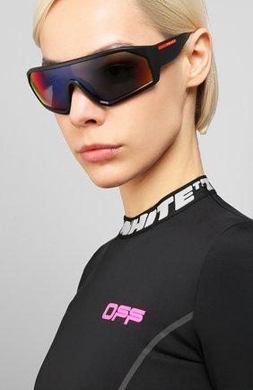Женские солнцезащитные очки PRADA LINEA ROSSA черного цвета, арт. 03VS-1B09Q1   Фото 2