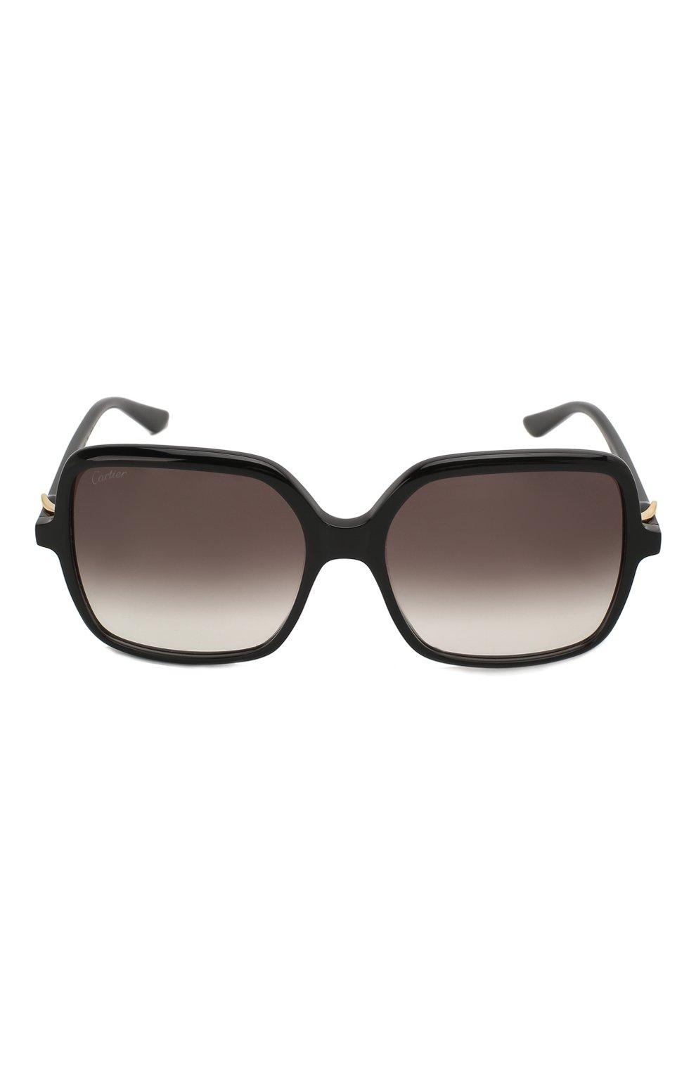 Женские солнцезащитные очки CARTIER черного цвета, арт. CT0219S 001 | Фото 3