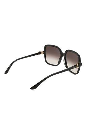 Женские солнцезащитные очки CARTIER черного цвета, арт. CT0219S 001 | Фото 4