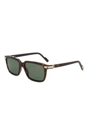 Мужские солнцезащитные очки CARTIER коричневого цвета, арт. CT0220S 002 | Фото 1
