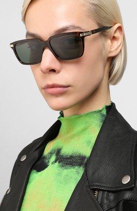 Мужские солнцезащитные очки CARTIER коричневого цвета, арт. CT0220S 002 | Фото 2