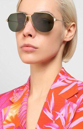 Женские солнцезащитные очки CARTIER золотого цвета, арт. CT0229S 002 | Фото 2
