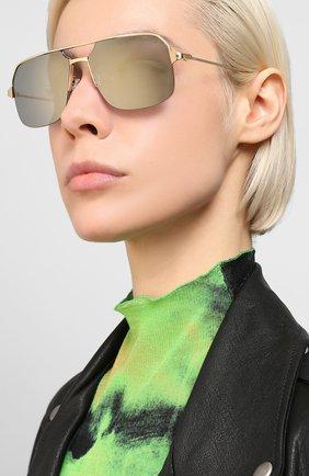 Мужские солнцезащитные очки CARTIER золотого цвета, арт. CT0230S 003 | Фото 2