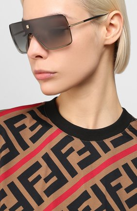 Женские солнцезащитные очки GIVENCHY черного цвета, арт. 7167 2F7 | Фото 2