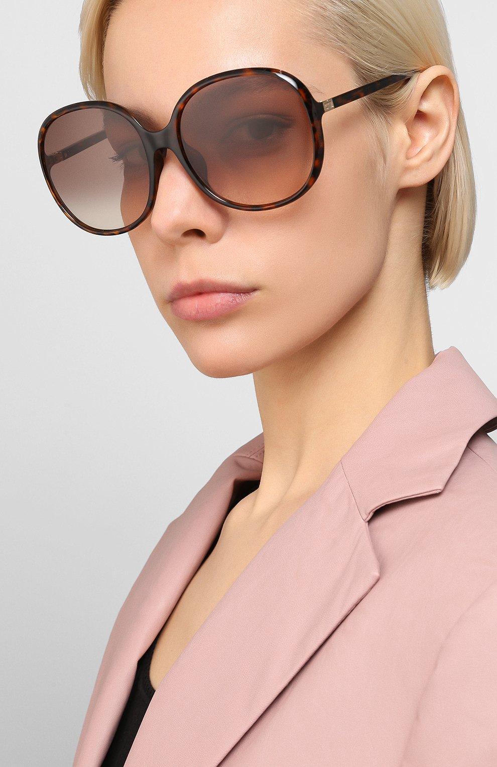 Женские солнцезащитные очки GIVENCHY коричневого цвета, арт. 7172/F 086 | Фото 2