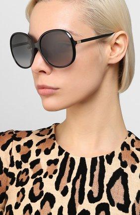 Женские солнцезащитные очки GIVENCHY черного цвета, арт. 7172/F 807 | Фото 2