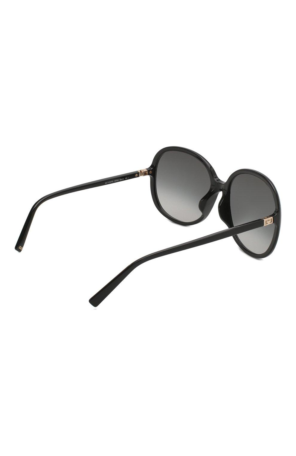 Женские солнцезащитные очки GIVENCHY черного цвета, арт. 7172/F 807 | Фото 4