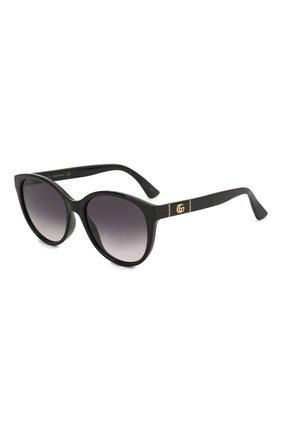 Женские солнцезащитные очки GUCCI черного цвета, арт. GG0631S 001 | Фото 1