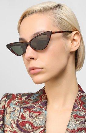 Мужские солнцезащитные очки GUCCI коричневого цвета, арт. GG0708S 003   Фото 2