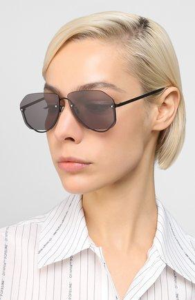 Женские солнцезащитные очки MCQ SWALLOW черного цвета, арт. MQ0257S 001 | Фото 2