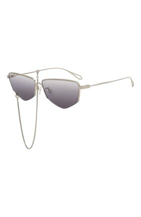 Женские солнцезащитные очки MCQ SWALLOW серого цвета, арт. MQ0271SA 001   Фото 1 (Тип очков: С/з; Оптика Гендер: оптика-женское; Очки форма: Прямоугольные)