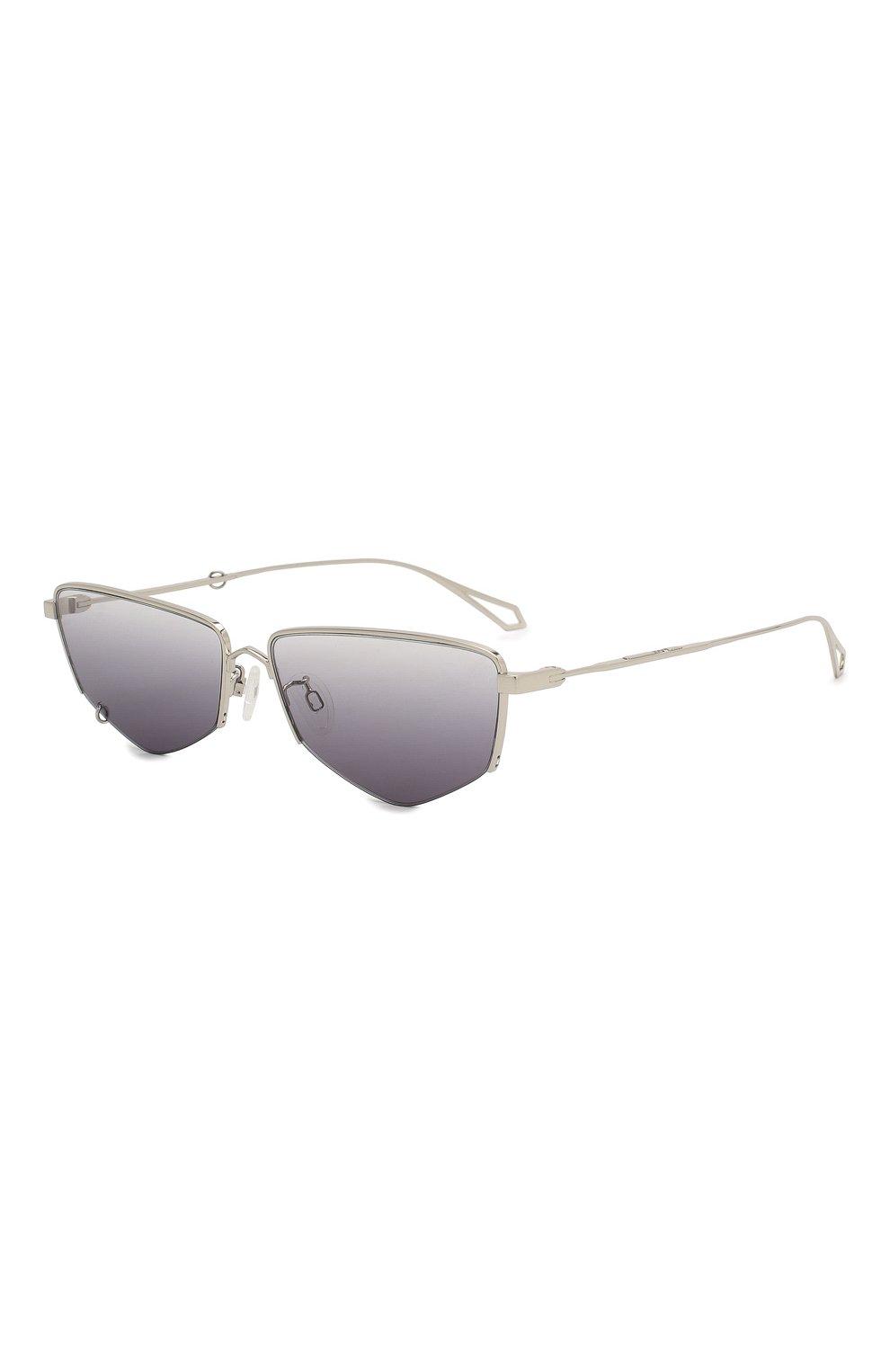 Женские солнцезащитные очки MCQ SWALLOW серого цвета, арт. MQ0271SA 001   Фото 3 (Тип очков: С/з; Оптика Гендер: оптика-женское; Очки форма: Прямоугольные)