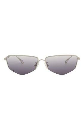 Женские солнцезащитные очки MCQ SWALLOW серого цвета, арт. MQ0271SA 001   Фото 4 (Тип очков: С/з; Оптика Гендер: оптика-женское; Очки форма: Прямоугольные)