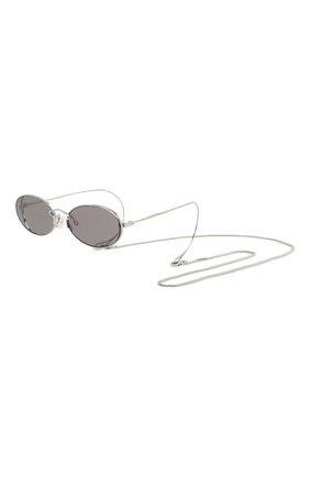 Женские солнцезащитные очки MCQ SWALLOW серого цвета, арт. MQ0272SA 001 | Фото 1
