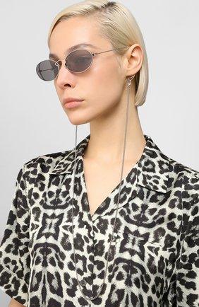 Женские солнцезащитные очки MCQ SWALLOW серого цвета, арт. MQ0272SA 001 | Фото 2